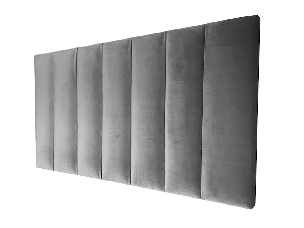 Velvet Vertical Panel Upholstered Bedhead