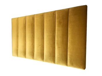 Vertical Panel Upholstered Velvet Bedhead